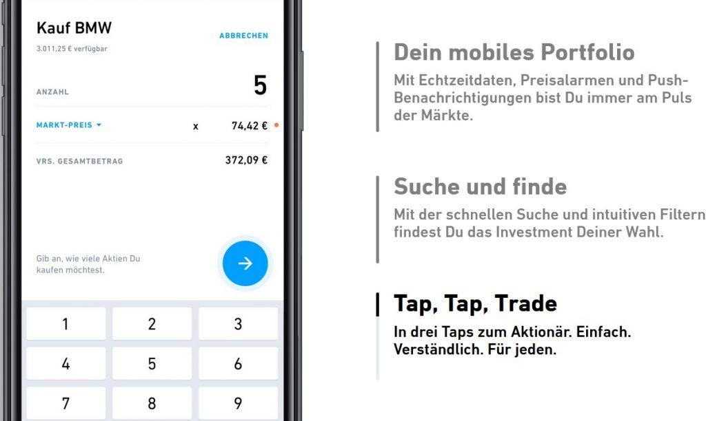 Einfache und intuitive Trading-App.